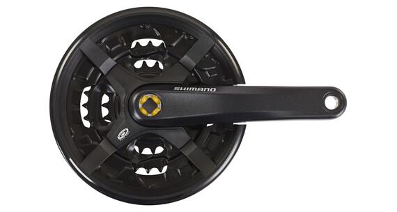 Shimano FC-M351 Kurbelgarnitur MTB Vierkant 9-fach 44-32-22 Z mit Kettenschutzring schwarz